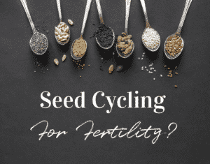 Different seeds on spoons for fertility seed cycling