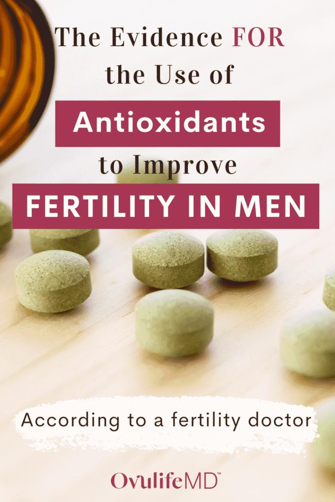 Antioxidant pills supporting male fertility