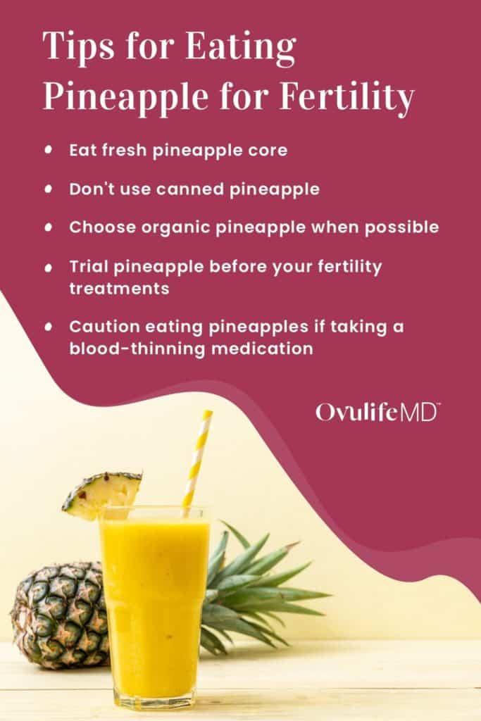 5 tips for eating pineapple for fertility