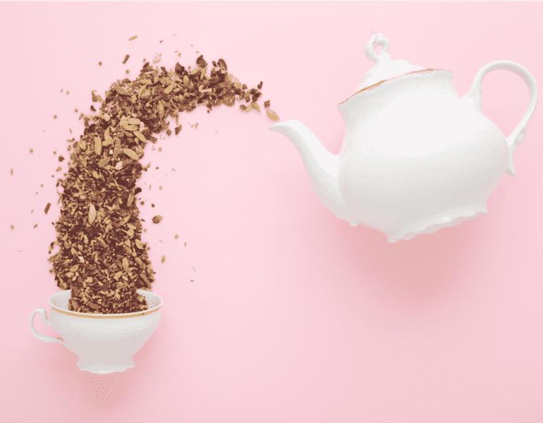 Pot of herbal tea for fertility